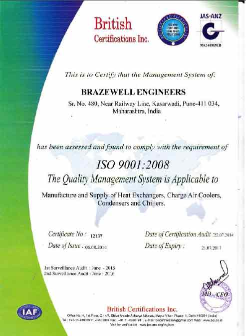 Quality Assurance - Brazewell Engineers, Pune, India